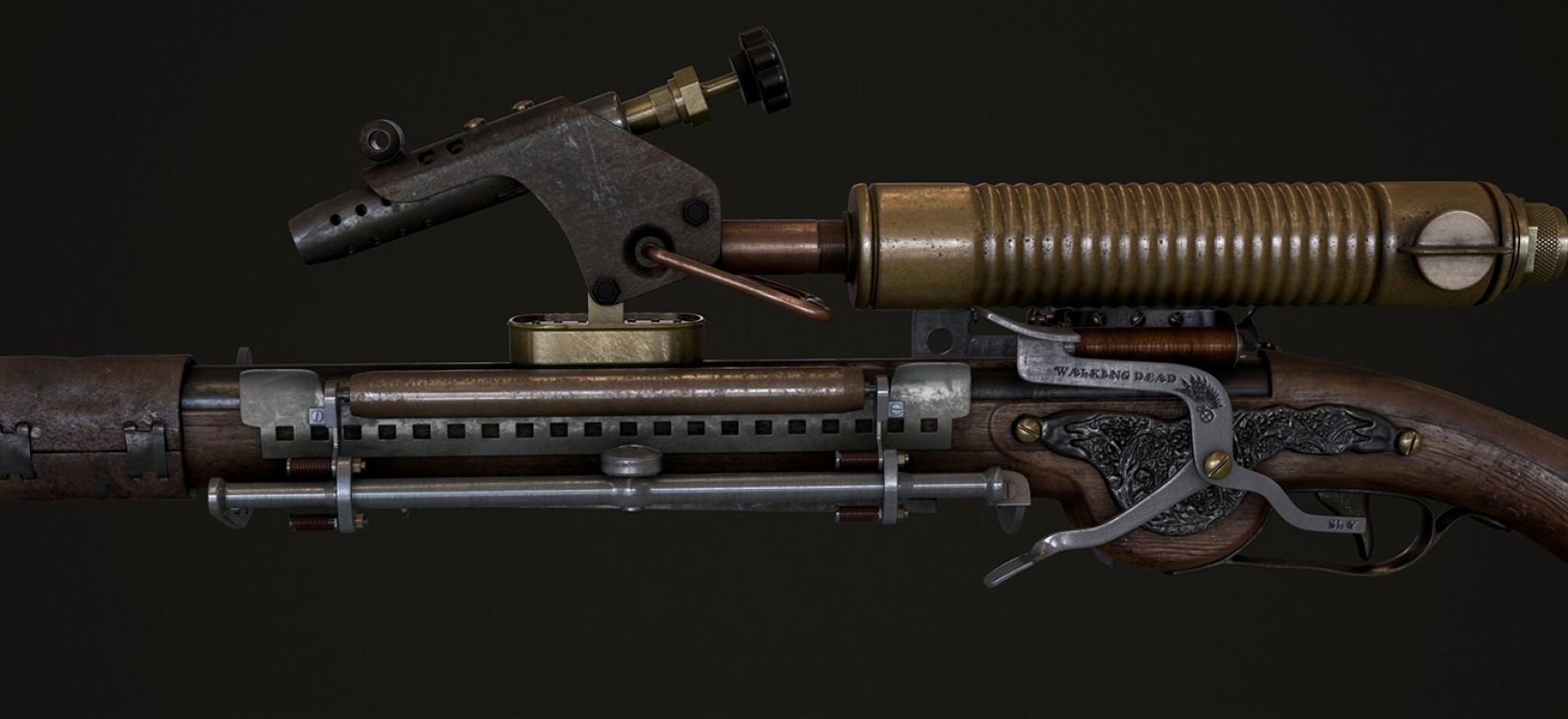 Steampunk Gun 4.